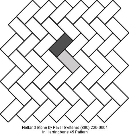 Holland Stone in Herringbone 45 Pattern