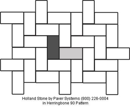 Holland Stone in Herringbone 90 Pattern