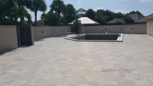 Travertine community pool